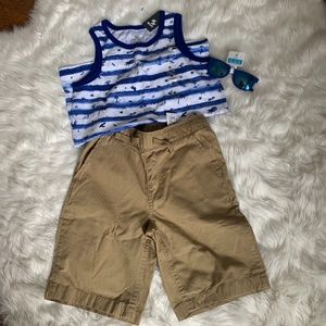 Childrens Place Top Bottoms & Sunglasses - Size 7